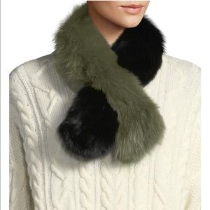 Polly Pop Two-Tone Fur Slip-Through Scarf